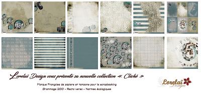 [RueDuScrap]Nouvelle collection de Lorelaï design CLICHE