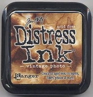 Distress ink - Vintage photo