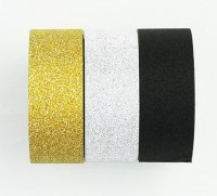 Washi tape BLING BLING ARGENT/OR/NOIR - Kesi'art