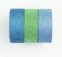 Washi tape BLING BLING BLEU/VERT/TURQUOISE - Kesi'art