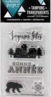 {Capsule décembre 2016} Tampons clear BONNES FETES - Florilèges