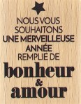 {Capsule décembre 2016} Tampon bois MERVEILLEUSE ANNEE - Florilèges
