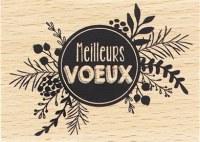 {Capsule décembre 2016} Tampon bois PASTILLE DE VOEUX - Florilèges