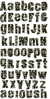 Alphabet 3D BLACK AND WHITE POLKA DOT - Prima