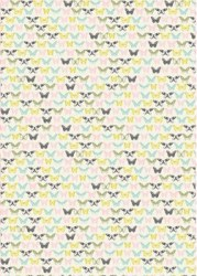 {Fil&Bulle}Textile adhésif PAPILLONS 43x30 cm - Fabric's