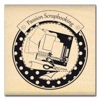 Tampon bois PASSION SCRAPBOOKING - Florilèges