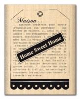 Tampon bois TAG HOME - Florilèges