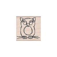 Tampon bois Owl - Hero Arts