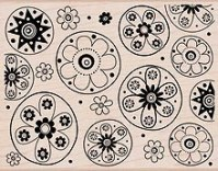 Tampon bois DESIGNBLOCK FLOWERS - Hero Arts