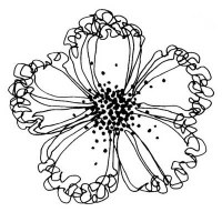 Tampon bois Ruffled bloom - Stampendous