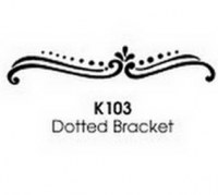 Tampon bois Dotted bracket – Stampendous