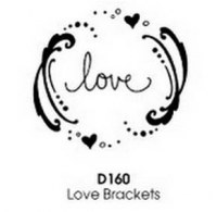 Tampon bois Love brackets – Stampendous
