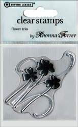 Tampon clear Flower Trio - Autumn leaves