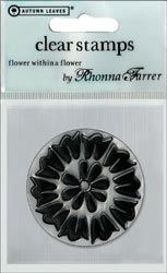 Tampon clear - Flower within flower - Autumn leaves