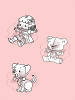 **Tampons clear PUPPY DOLL AND TEDDY - Belles'n whistles