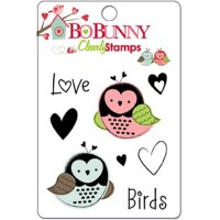 Tampon clear LOVE BIRDS - Bo Bunny