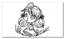 Tampon clear PETITE FILLE A L'ESCARGOT - Chrysalide stamps
