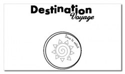 Tampon clear DESTINATION VOYAGE - Chrysalide stamps