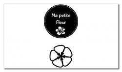 Tampon clear MA PETITE FLEUR - Chrysalide stamps
