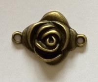 Charm ROSE 1 antique brass