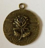 Charm ROSE 2 antique brass