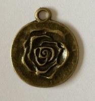 Charm ROSE 6 antique brass