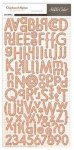 Chipboards alphabet AUTUMN PRESS - Studio calico