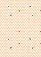 {Jodie&Chico}Textile adhésif Coeurs 43x30 cm - Fabric's