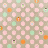 {Jodie&Chico}Textile adhésif Pastille 30x30 cm - Fabric's