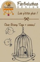 Tampon clear CAGE + OISEAUX - Fanfreluches