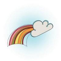 Tampon clear RAINBOW - Imaginisce