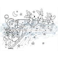 Tampon clear SANTAS SLEIGH - Stampavie