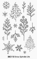 Tampons clear Snow spindle lite – Stampendous