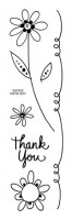 Tampon clear POSIE THANK YOU - Stampendous
