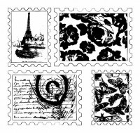 Tampons clear TIMBRES ROMANTIQUES - Sultane