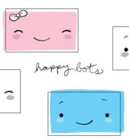 Tampons clear Happy bots - Bam pop