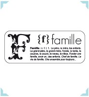 Tampon ENCADRE FAMILLE - Bloomini