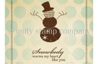 Tampon monté sur mousse SNOWBODY - Unity stamp