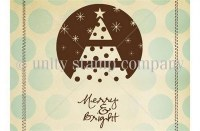 Tampon monté sur mousse MERRY AND BRIGHT - Unity stamp