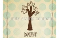 Tampon monté sur mousse BEAUTY TREE - Unity stamp