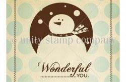 Tampon monté sur mousse SNOW WONDERFUL - Unity stamp