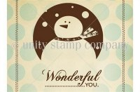 Tampon monté sur mousse SNOW WONDERFUL - Unity stamp