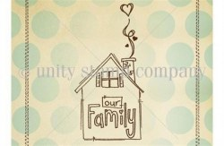 Tampon monté sur mousse OUR FAMILY - Unity stamp