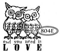 Tampon non monté OWL YOU NEED IS LOVE - Cats life press