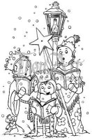 Tampon non monté THE SINGING 3 KINGS - In2Stamps