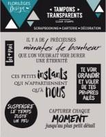 Tampons clear MINUTES DE BONHEUR - Florilèges
