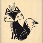 {Dakota valley}Tampon bois BOHO FOX - Florilèges