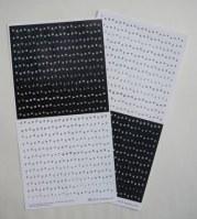 Stickers d'imprimeur NOIR/BLANC - Toga