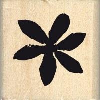 {Hello watercolor}Tampon bois PETITE FLEUR ETOILEE - Florilèges