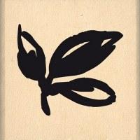 {Hello watercolor}Tampon bois TROIS FEUILLES - Florilèges